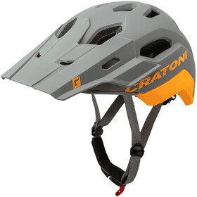 Cratoni C-Maniac 2.0 Trail Kask, grey/orange matte